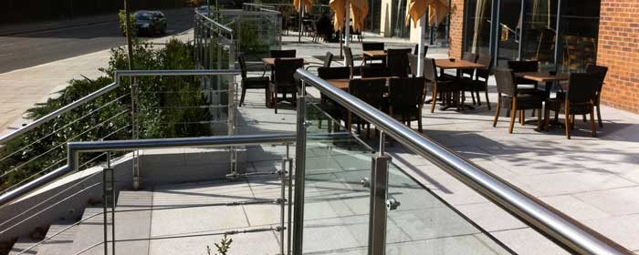 Outdoor stainless steel balustrade